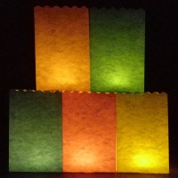 20cm plain colour candle bags
